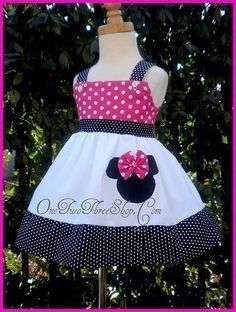 Custom Boutique Minnie Mouse Jumper Dress by amacim on Etsy