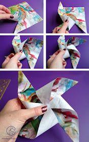 Paper windmill tutorial