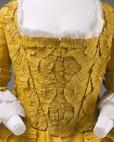 Stomacher detail c.1760.