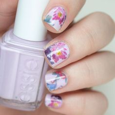 Pretty floral nails.