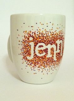 Custom Made Dot Sharpie Mug by UniquelyMadeMugs on Etsy only $8 not a bad price for a gift!!