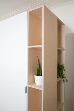 white laminate plywood beech detail