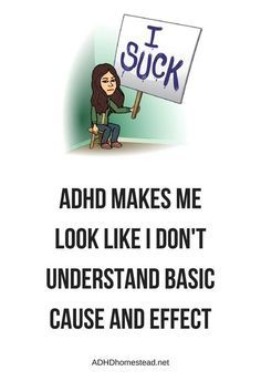 My ADHD makes me look inept.