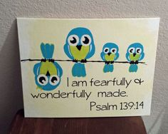 Owls family quote - I am fearfully and wonderfully made Psalm 139:14