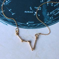 Gold Cassiopeia Constellation Necklace gold by AstridandRose