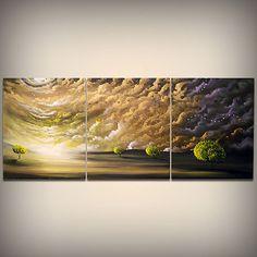 art painting tree painting original painting 66 x 28 by mattsart, $649.00