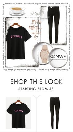 """Romwe"" by alisalisss ❤ liked on Polyvore featuring J Brand and Burberry"