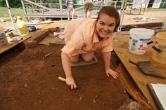 History major, Samantha Sproviero '17 had the opportunity to spend a month digging at Montpelier's Archaeology Field School during the summer. She was taught archaeological excavation methods as well as the procedures of an archaeology lab, and about the enslaved community that lived and worked on President James Madison's estate. Photo: Courtesy of The Montpelier Foundation