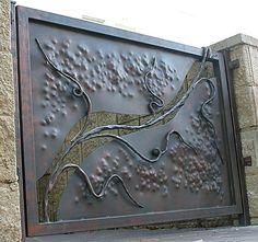 /gallery/bcbs//gates/13//th_ Gates And Railings, Metal Gates, Forging Metal, Welding Art, Iron Work, Garden Gates, Blacksmithing, Wrought Iron, Metal Art