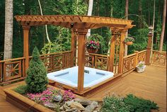Would love to do something like this with our deck/hot tub
