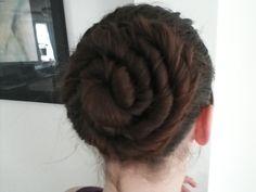 4 strand hair spiral - like a cinnamon bun!!!