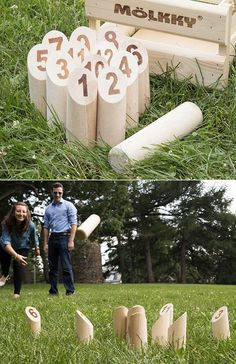 Mölkky is a simple, but slyly strategic, outdoor skittles game similar to lawn bowling. It's easy to learn, and can be played virtually anywhere.
