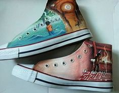 Percy Jackson Hand Painted Shoes by each of the books custom can
