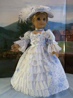 Williamsburg Sapphire Fits American Girl Elizabeth Felicity | eBay. Sold 5/14/13 for $61.00.