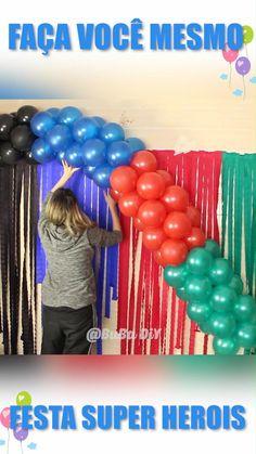 Balloon Arch Diy, Balloon Crafts, Birthday Balloon Decorations, Diy Party Decorations, Birthday Balloons, Birthday Diy, Birthday Party Themes, Festa Pj Masks, Baby Shower Balloons