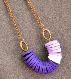 DIY Necklace  : DIY Violet Necklace