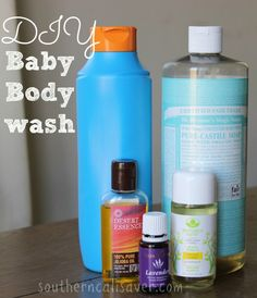 DIY Baby Body wash Did I mention that I LOVE Castile Soap? I just discovered it recently as we've been going a more all natural route and I am so surprised at how many different uses there are-- and you can use it on A LOT of things.