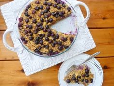 Blueberry Oatmeal Bake - Cookin' Cowgirl -- pretty sure i can make this 21 day fix approved!