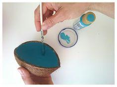 Revelo & ideas low cost: Cenicero con cáscara de coco