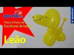 Aprenda a fazer um Leão utilizando balões | aprendi.net