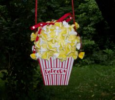 Popcorn Purse Short and Stout Yellow White Red by GourmetHandbags, $15.00
