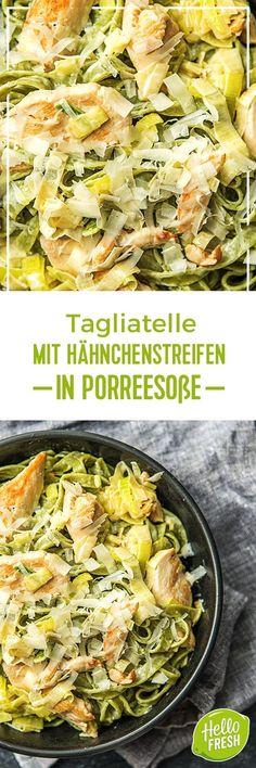 Step by Step Rezept: Hähnchenstreifen in cremiger Porreesoße auf grüner Spinat-Tagliatelle  Kochen / Essen / Ernährung / Lecker / Kochbox / Zutaten / Gesund / Schnell / Frühling / Einfach / DIY / Küche / Gericht / Blog / Leicht / selber machen / backen / Pasta / Nudeln / Italienisch / 30 Minuten     #hellofreshde #kochen #essen #zubereiten #zutaten #diy #rezept #kochbox #ernährung #lecker #gesund #leicht #schnell #frühling #einfach #küche #gericht #trend #blog #selbermachen #backen…