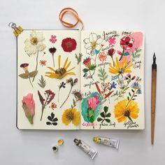 Bullet journal personnalisé à l'aide de fleurs Custom your bullet journal with flowers