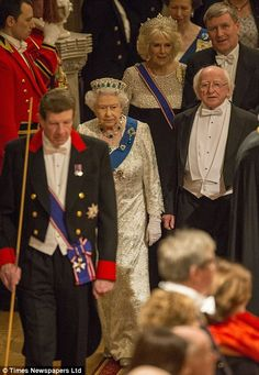 NPA Pool_The Queen and the Irish President, Michael D Higgins at Windsor Castle 8 Apr 2014