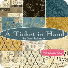 A Ticket In Hand YardageCynthia Coulter for Wilmington Prints   Fat Quarter Shop