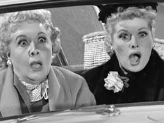 Lucy and Ethel share a ride to Florida with Mrs. Grundy (Elsa Lanchester) and think she is a hatchet murderess.