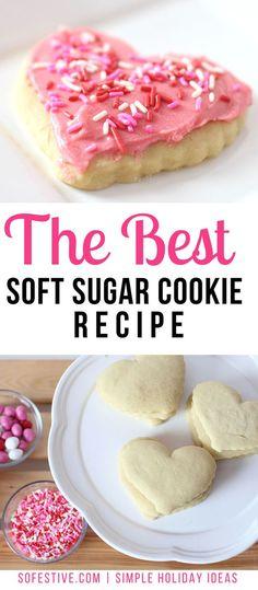 the best soft sugar cookie recipe- easy sugar cookie recipe Soft Sugar Cookie Recipe, Sugar Cookie Bars, Easy Sugar Cookies, Baking Cookies, Cookie Dough, Holiday Cookie Recipes, Easy Cookie Recipes, Sweet Recipes, Dessert Recipes