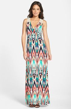 c5944c8cc252a FELICITY & COCO Crochet Back Jersey Maxi Dress (Petite) (Nordstrom  Exclusive) Cute