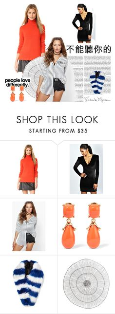 """""""fashion"""" by donna-wang1 ❤ liked on Polyvore featuring 525 America, Boohoo, Kenneth Jay Lane, Charlotte Simone, Cyan Design and Kenzie"""