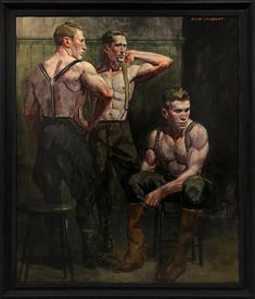 For Sale on - [Bruce Sargeant Dressing for a Morning Hunt, Canvas, Oil Paint by Mark Beard. Offered by ClampArt. Museum Of Fine Arts, Museum Of Modern Art, Art Museum, Beard Art, Modern Art Movements, Queer Art, Art Of Man, Pulp Art, Gay Art