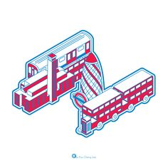 LONDON / Typeface Illustration by KuoCheng Liao, via Behance