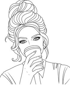 People Coloring Pages, Adult Coloring Book Pages, Coloring Book Art, Colouring Pages, Girly Drawings, Pencil Art Drawings, Easy Drawings, Drawing Sketches, Coloring Pages Inspirational