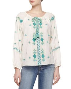 Zuma Embroidered Voile Top at CUSP.