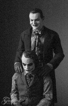 Jack Nicholson and Heath Ledger as the Joker. pic.twitter.com/JZ9vZkXqI0