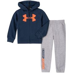 Boys Under Armour Logo Zip Hoodie & Jogger Pants Set, Boy's, Size: Blue Jogger Pants, Joggers, Under Armour Logo, Kohls, Zip Hoodie, Hooded Jacket, Sporty, Fashion Outfits, Hoodies