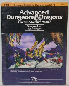 Vintage Advanced Dungeons & Dragons Dungeon EX1 by thebookcase, $12.00