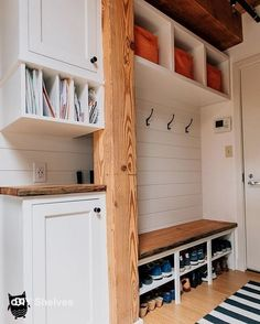 Shoe Storage Design, Bench With Shoe Storage, Shelf Design, Closet Storage, Garage Storage, Closet Shelves, Laundry Storage, Entryway Storage, Kitchen Storage