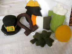 Set of 7 Handmade Irish themed St. Patrick's catnip Vat Toys by MissStitchinWitch