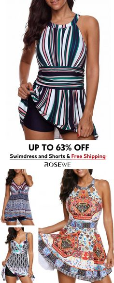 Cute Swimdress and Shorts. New sign-ups get 5% off for all first orders, free shipping & 30 easy return, check them out! Swimming Outfit, Swimming Costume, Pretty Outfits, Cute Outfits, Latest Fashion For Women, Womens Fashion, Cosplay, Online Shopping For Women, Swim Dress