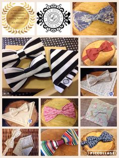 Handcrafted bespoke bow ties and pocket squares from Lilly Dilly's. Many colours, patterns, fabrics and designs to choose from. Child and adult sizes available. www.facebook.com/lillydillys #bow tie #groom #pageboy #usher #wedding #special #bespoke #pocket square #Lilly Dilly's