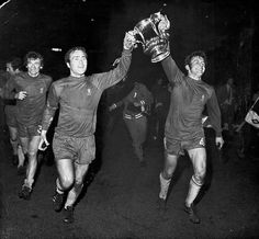 Eddie Maccreadie, Ron Harris and John Hollins (right) with the FA Cup in 1970.