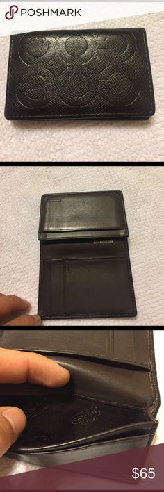 Coach men's wallet COACH Brown leather wallet USED USED Coach Bags Wallets