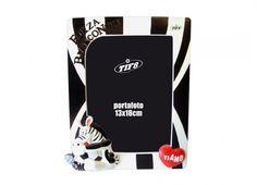 TIF8 PORTA FOTO CUORE BIANCO/NERI  Porta foto TIF8 zebrotto in resina nei colori bianco/nero.