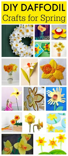 DIY Daffodil Crafts for kids - Mum In The Madhouse