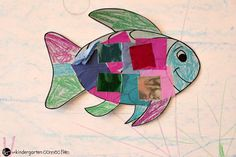 """This rainbow fish craft is the perfect companion to the beloved book """"The Rainbow Fish. Rainbow Fish Bulletin Board, Fish Bulletin Boards, Rainbow Fish Crafts, Beloved Book, Sunday School Crafts, Preschool Activities, Fish Theme, Kindergarten, Connection"""