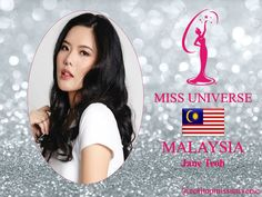 Jane Teoh Miss Universe 2018 contestant banner Malaysia